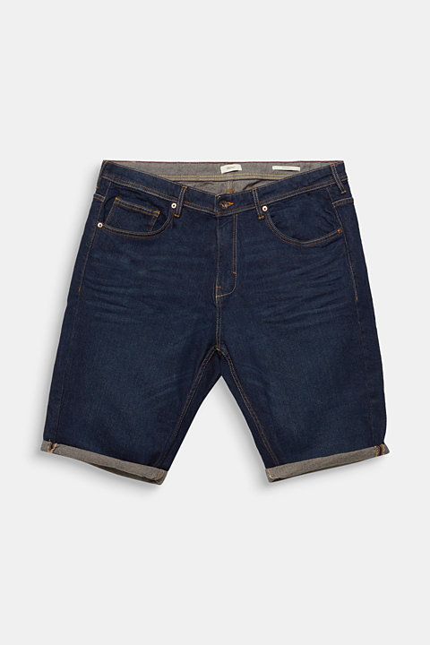 Denim Bermudas in a garment-washed look