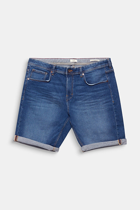 Denim Bermudas in a garment-washed look