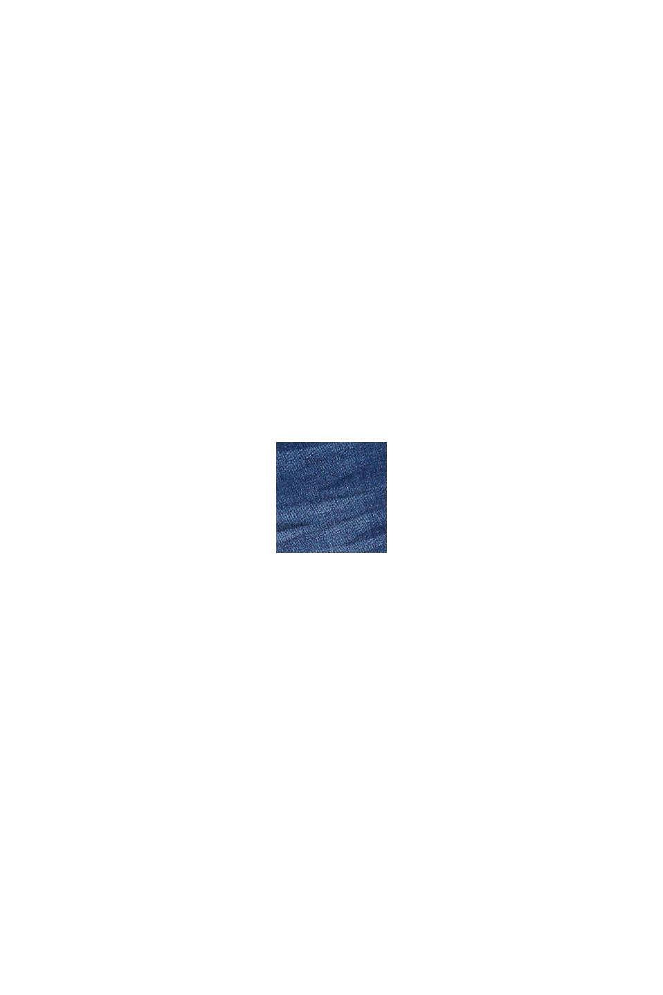 Denim Bermudas in a garment-washed look, BLUE MEDIUM WASHED, swatch