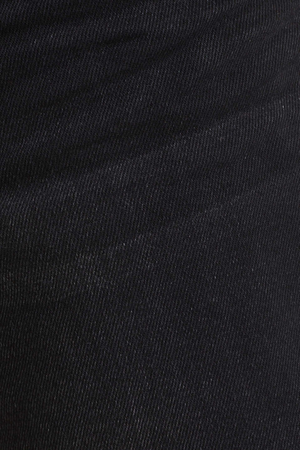 Denim Bermudas with organic cotton, BLACK MEDIUM WASH, detail image number 4