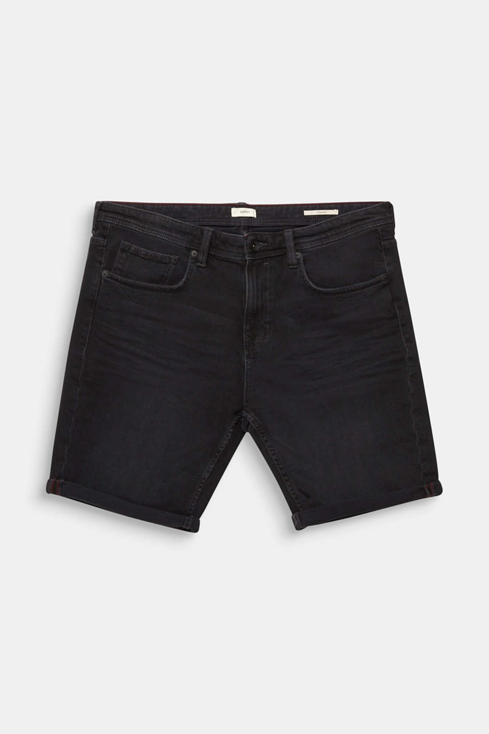 Denim Bermudas with organic cotton, BLACK MEDIUM WASH, detail image number 6