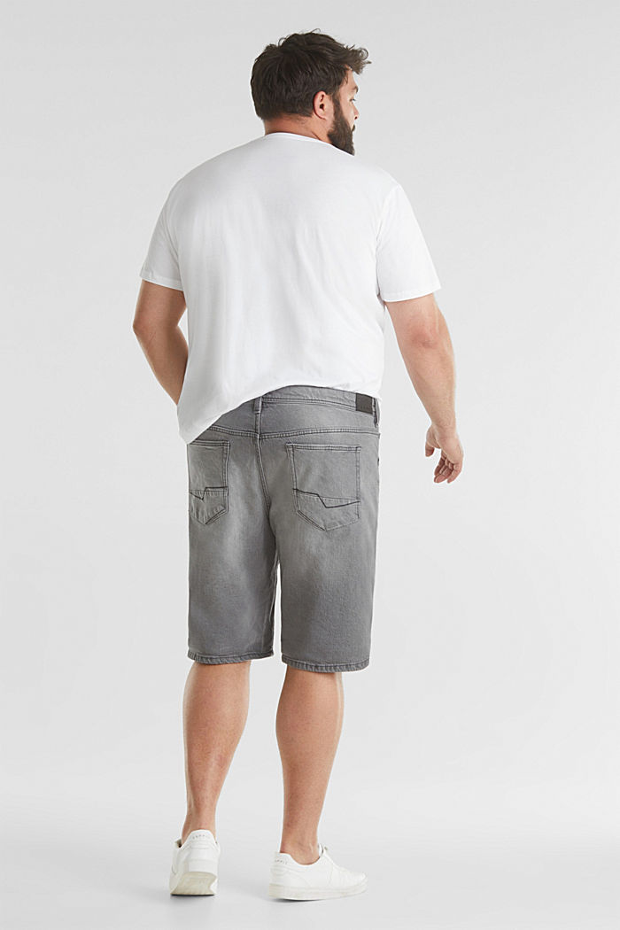 Denim Bermudas with organic cotton, GREY LIGHT WASHED, detail image number 3