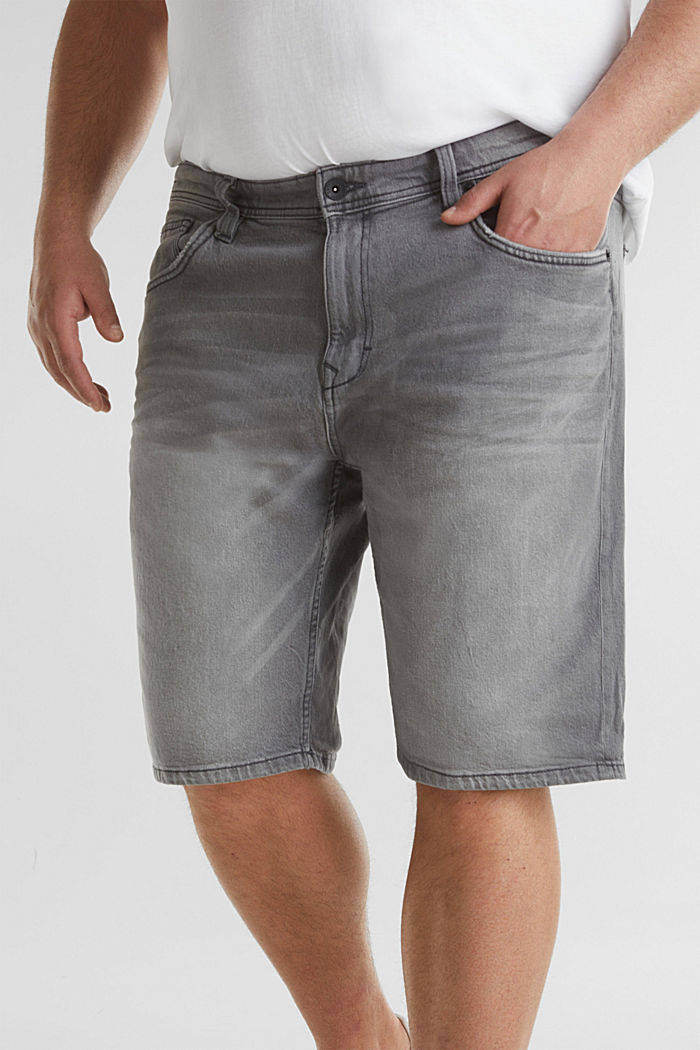 Bermudas vaqueras con algodón ecológico , GREY LIGHT WASHED, detail image number 2