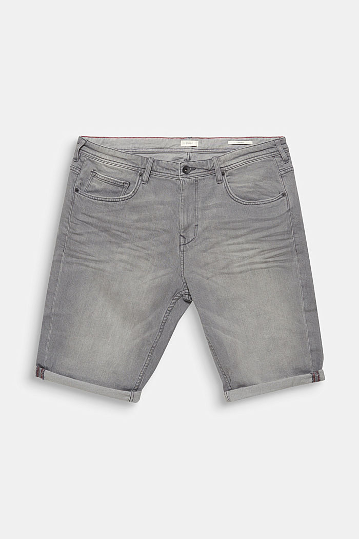 Denim Bermudas with organic cotton, GREY LIGHT WASHED, overview