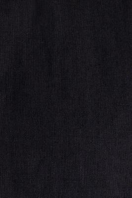 Button-down shirt made of 100% linen, BLACK, detail
