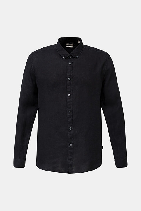 Button-down shirt made of 100% linen