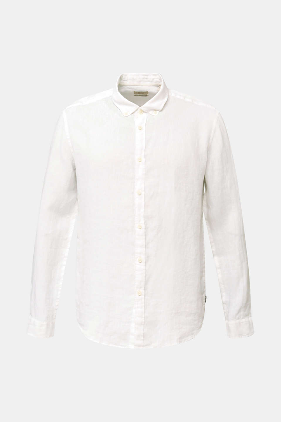 Button-down shirt made of 100% linen, WHITE, detail image number 6
