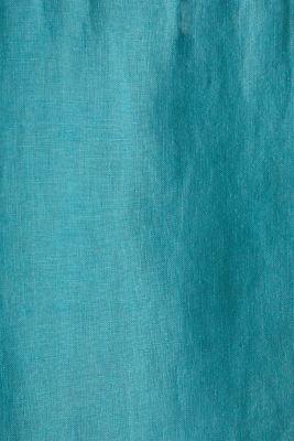 Button-down shirt made of 100% linen, TEAL GREEN, detail