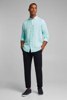 Button-down shirt made of 100% linen, LIGHT AQUA GREEN 2, detail