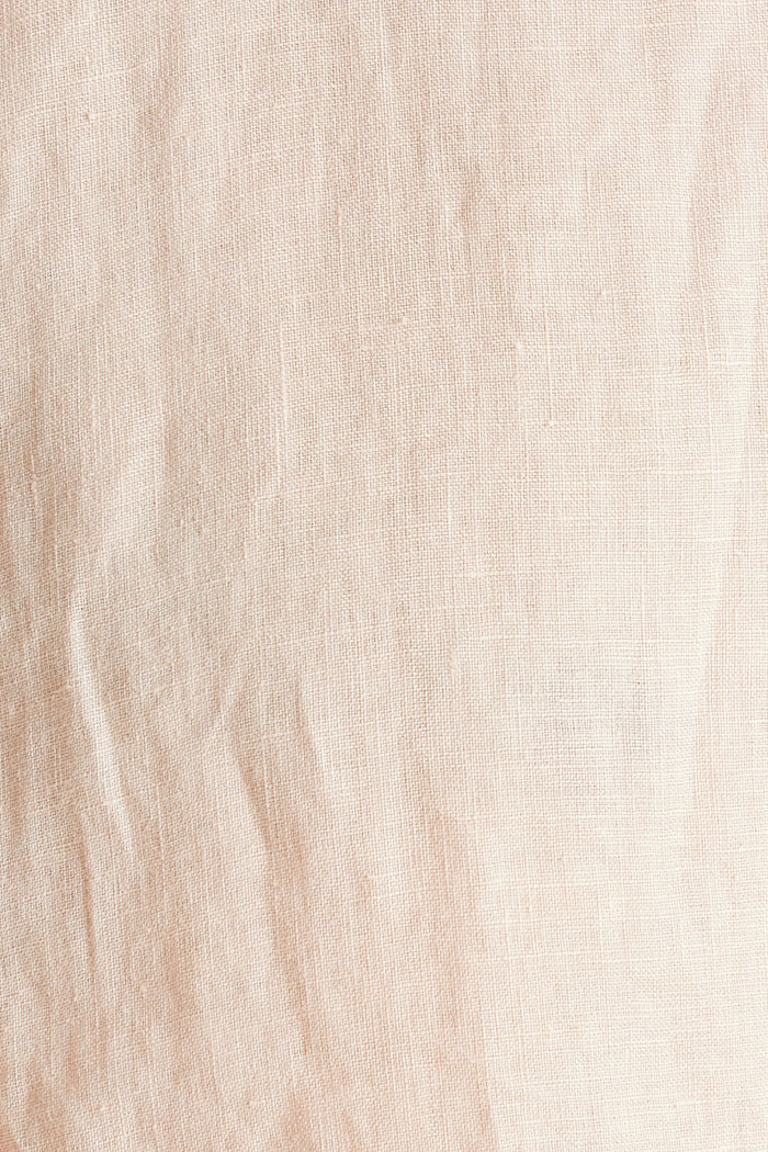 Button-down shirt made of 100% linen, PEACH, detail image number 4