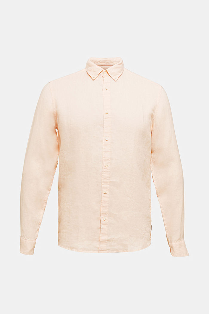 Button-down shirt made of 100% linen, PEACH, detail image number 6