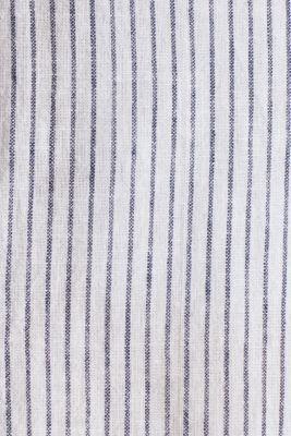 Striped shirt in blended linen, WHITE 3, detail