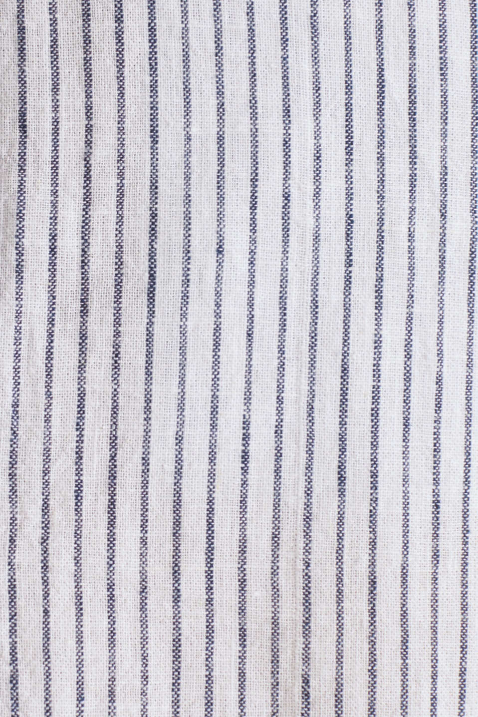 Striped shirt in blended linen, WHITE 3, detail image number 3