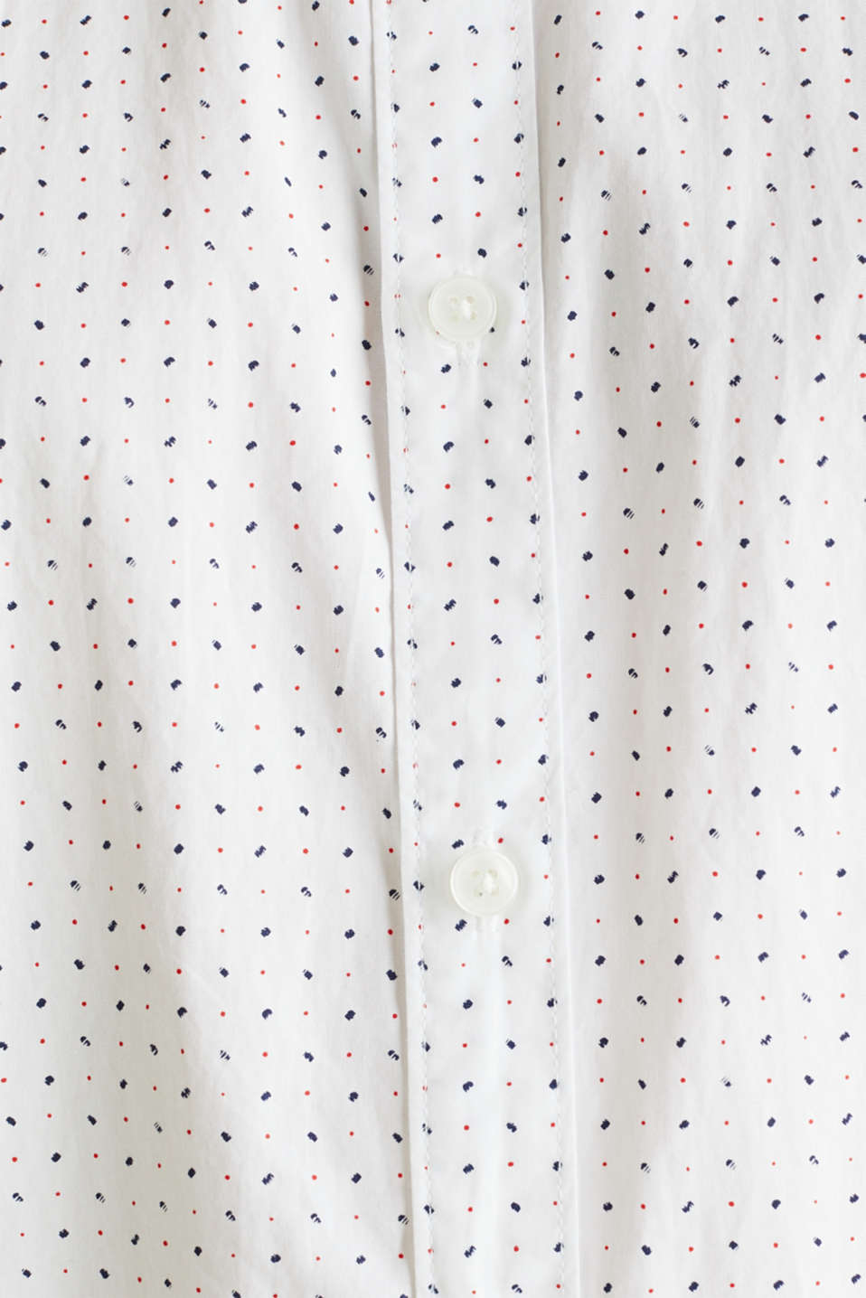 Shirt with micro print, 100% organic cotton, WHITE 4, detail image number 4