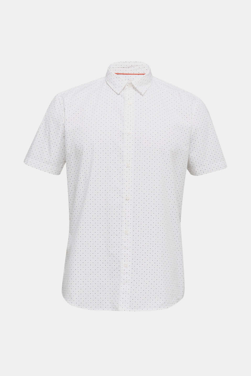 Shirt with micro print, 100% organic cotton, WHITE 4, detail image number 6