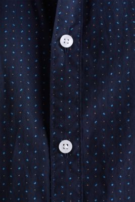 Shirt with micro print, 100% organic cotton, NAVY 4, detail