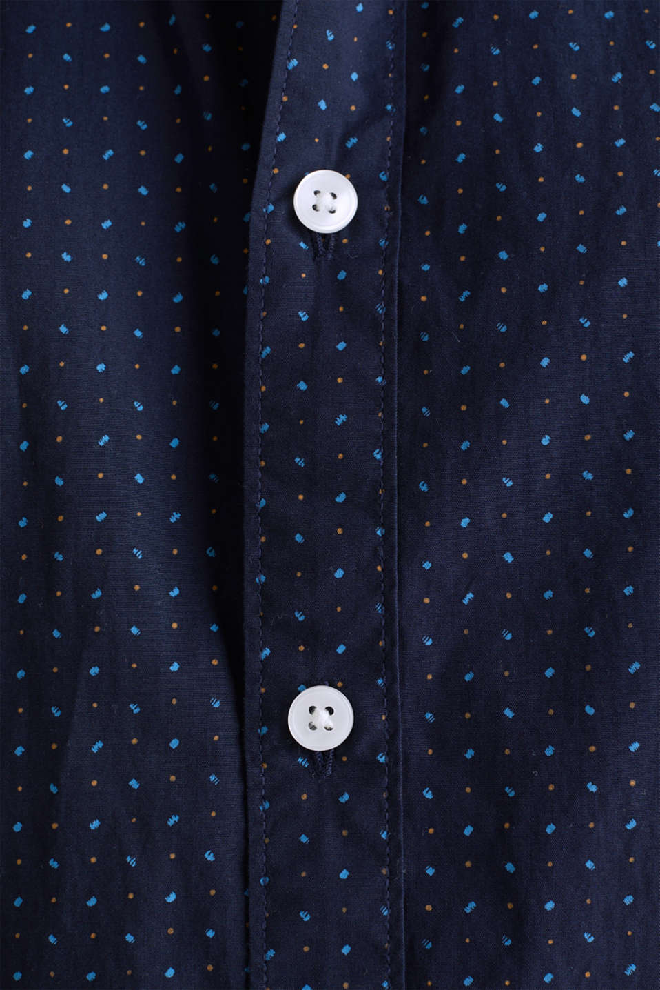 Shirt with micro print, 100% organic cotton, NAVY 4, detail image number 4