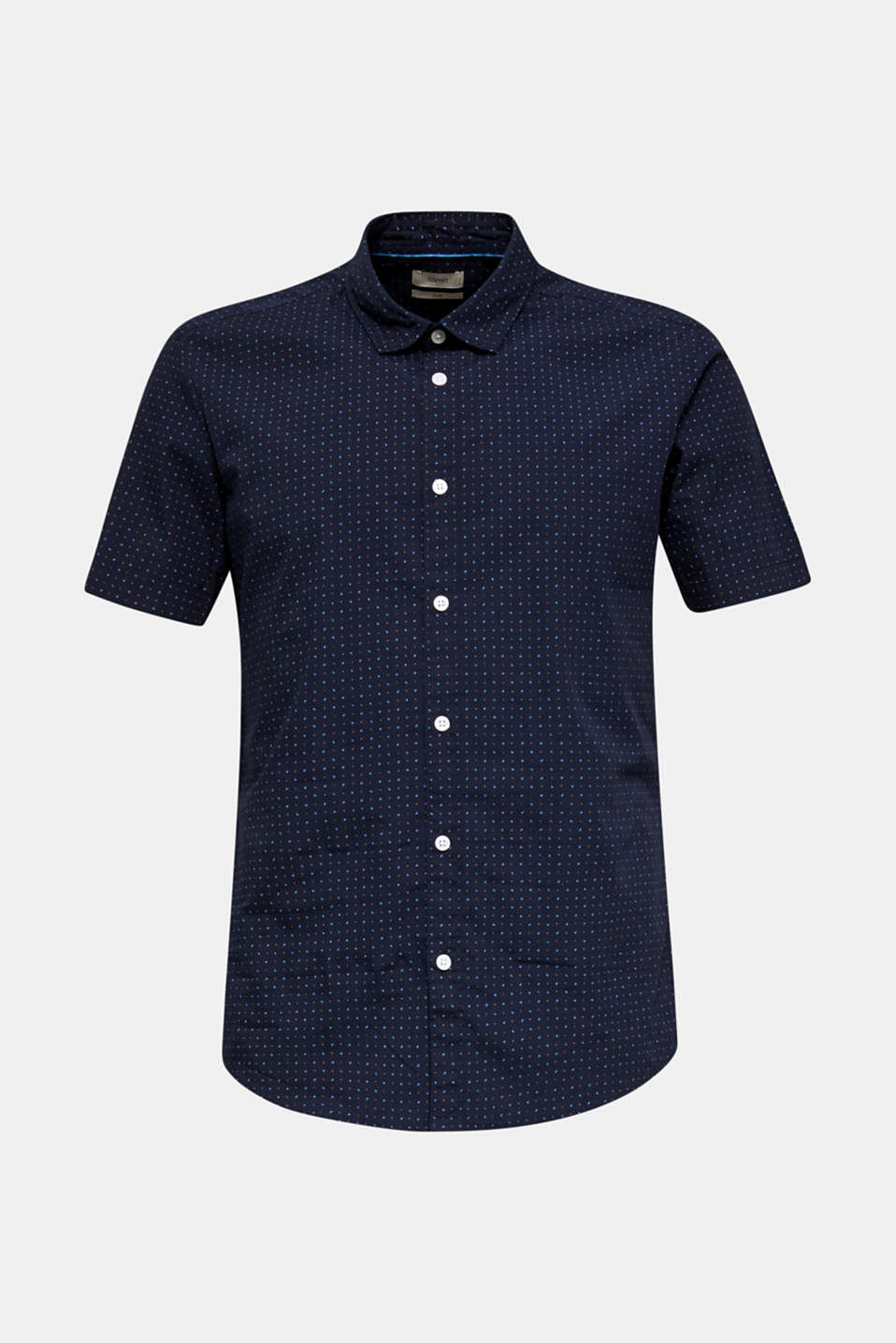 Shirt with micro print, 100% organic cotton, NAVY 4, detail image number 7