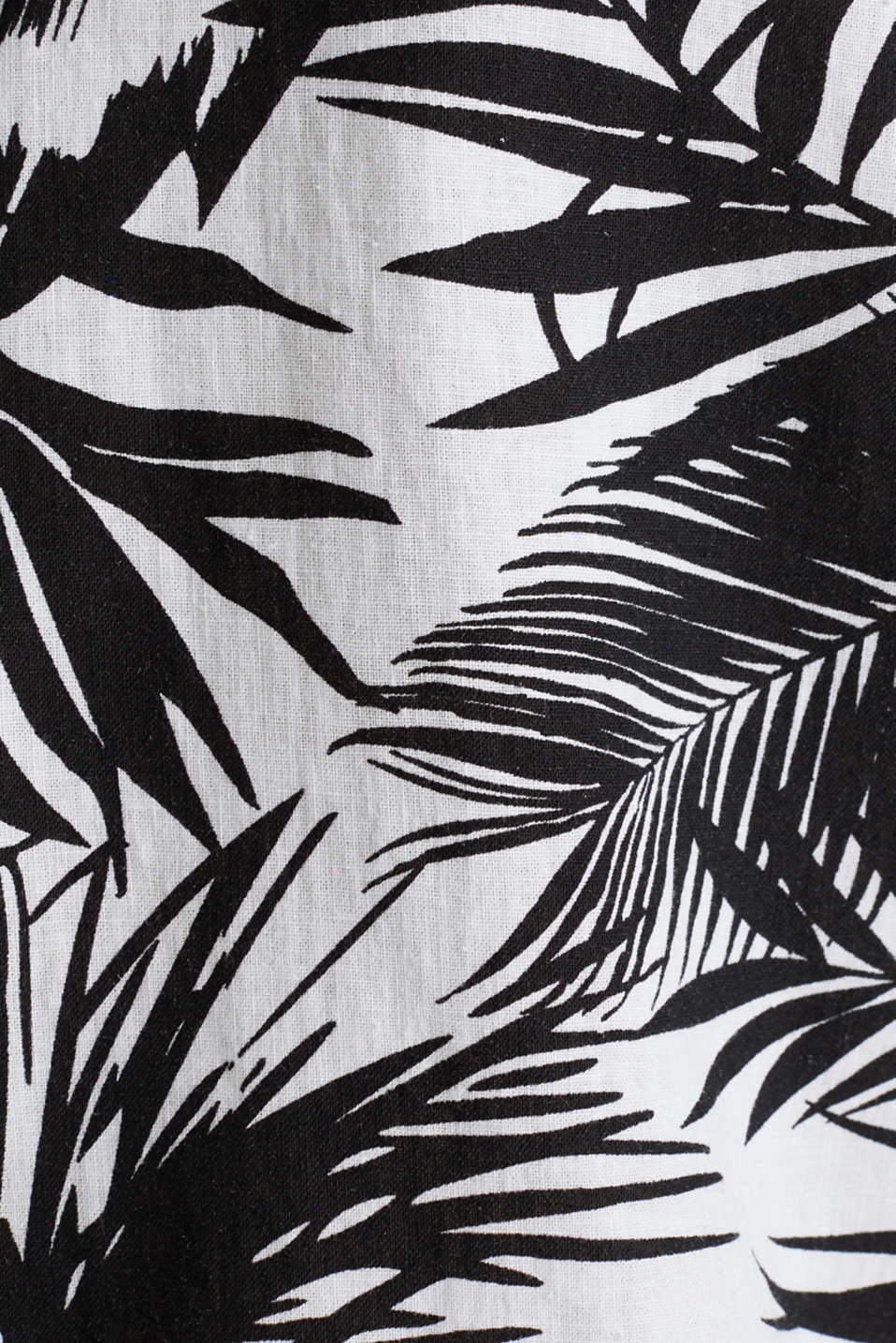 Blended linen: shirt with a palm print, WHITE 4, detail image number 4