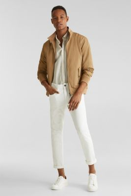 Linen blend: button-down shirt, TAUPE 5, detail