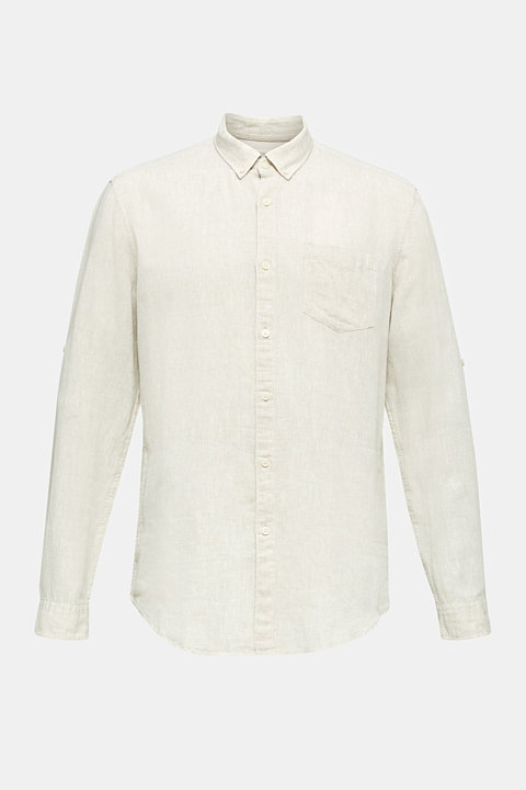 Linen blend: button-down shirt