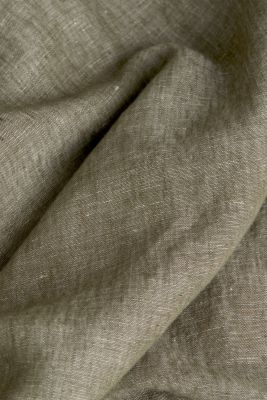 Linen blend: button-down shirt, KHAKI GREEN 5, detail