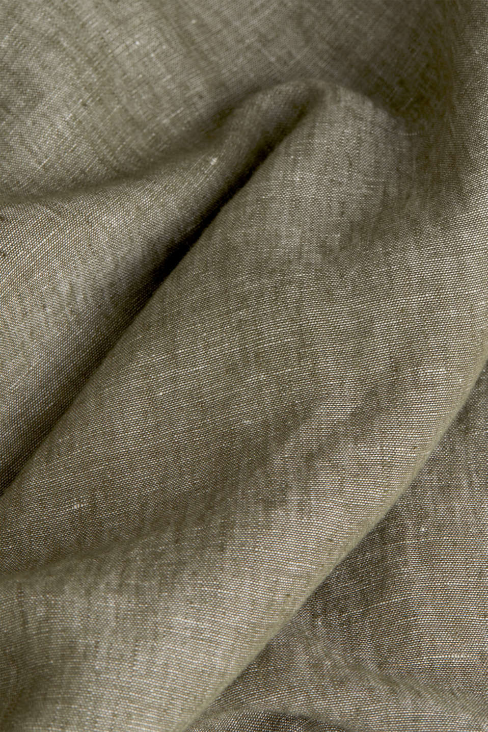 Linen blend: button-down shirt, KHAKI GREEN 5, detail image number 4