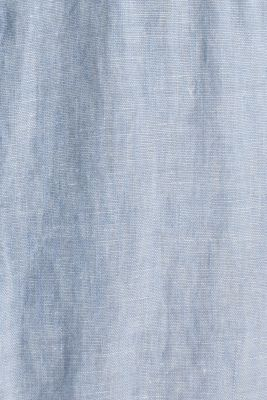 Made of blended linen: shirt with turn-up sleeves, LIGHT BLUE 5, detail