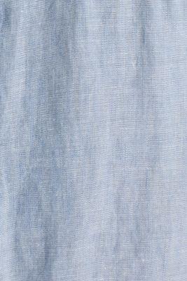 Linen blend: button-down shirt, LIGHT BLUE 5, detail