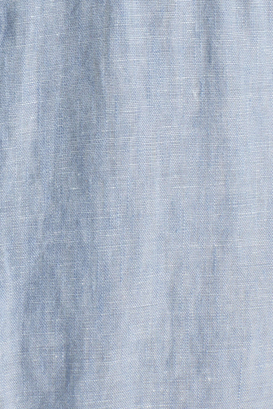 Made of blended linen: shirt with turn-up sleeves, LIGHT BLUE 5, detail image number 4