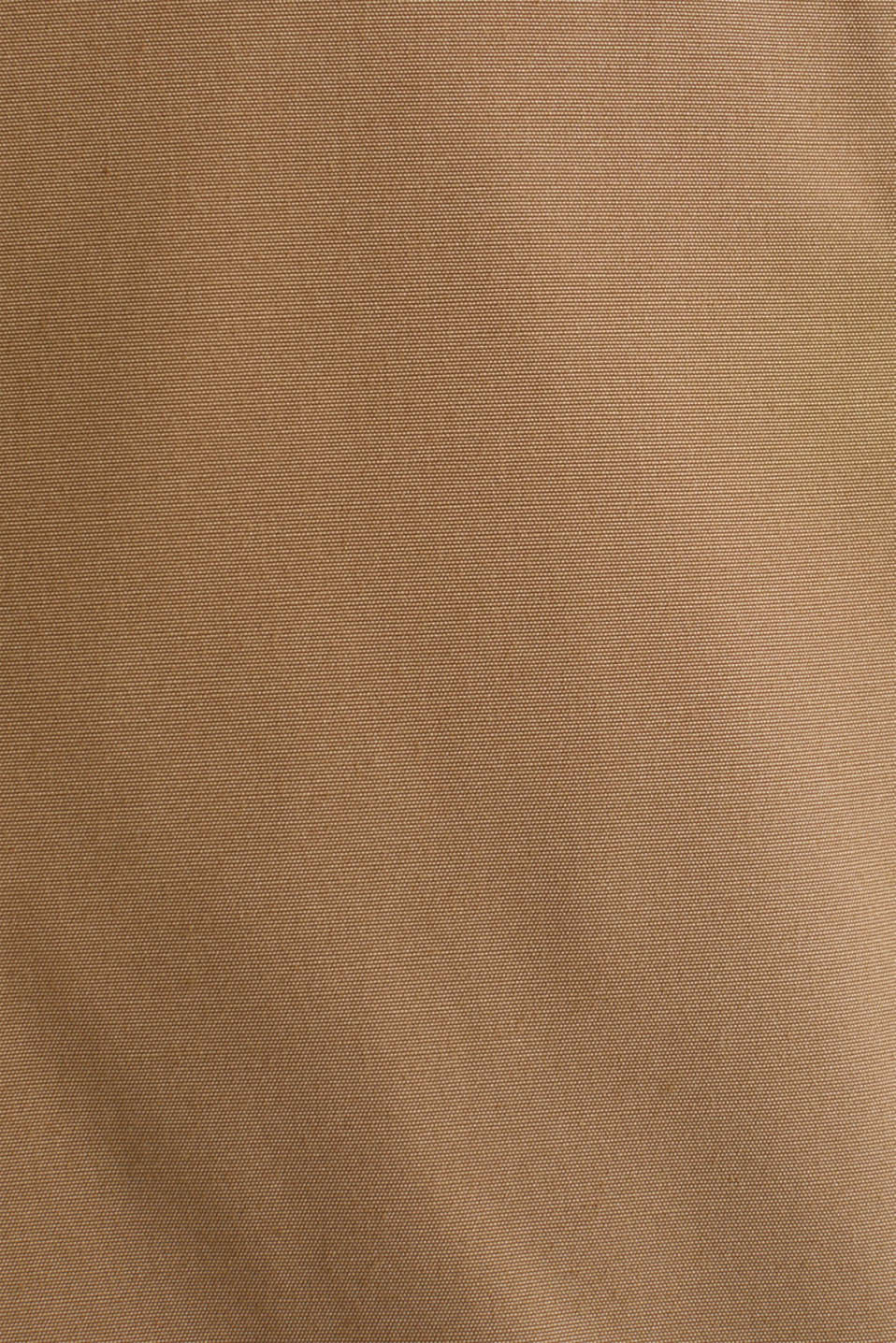 Bomber jacket with ribbed cuffs and hem, BEIGE, detail image number 5