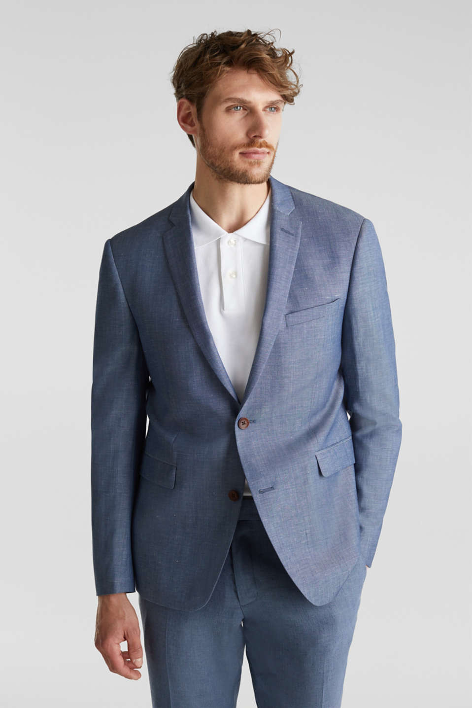 Blended linen: JOGG SUIT mix + match: sports jacket, BLUE 5, detail image number 0