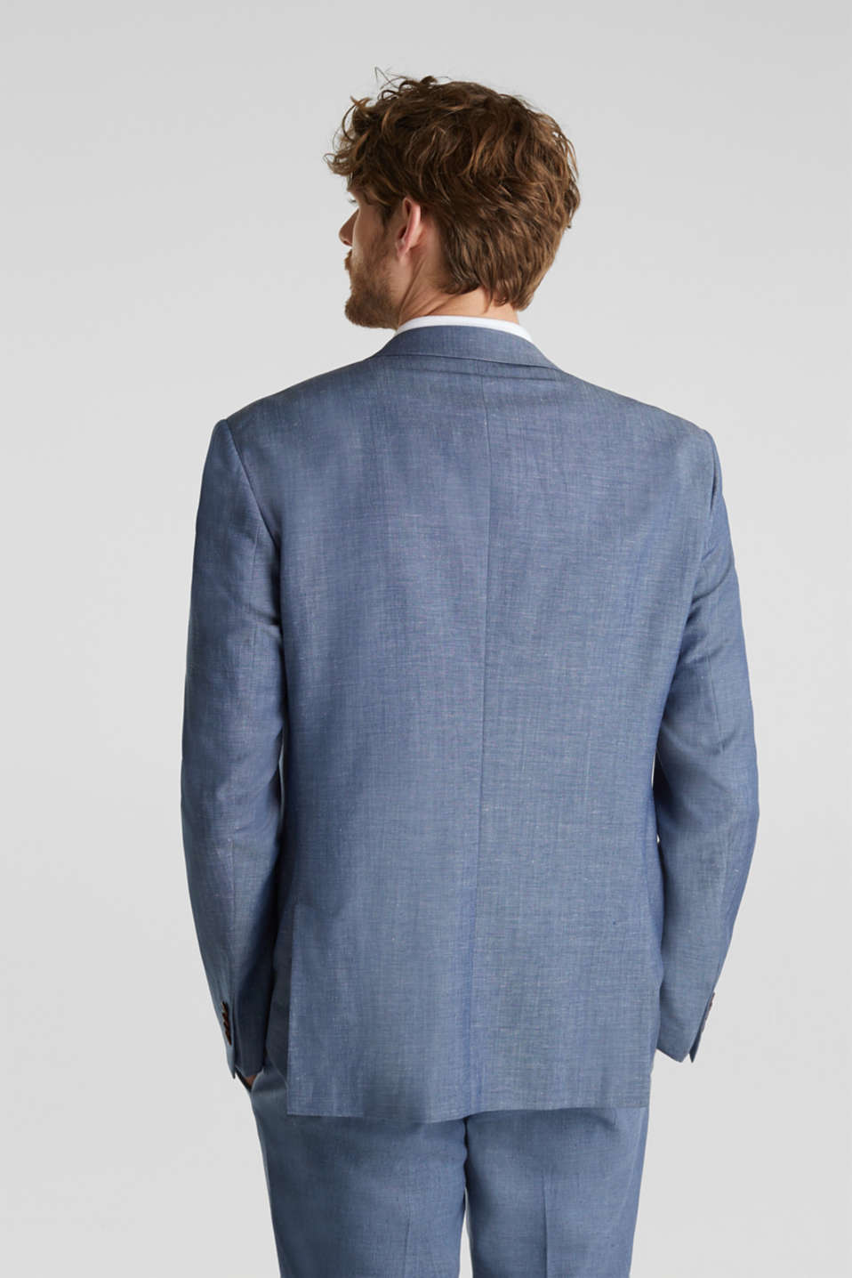 Blended linen: JOGG SUIT mix + match: sports jacket, BLUE 5, detail image number 3