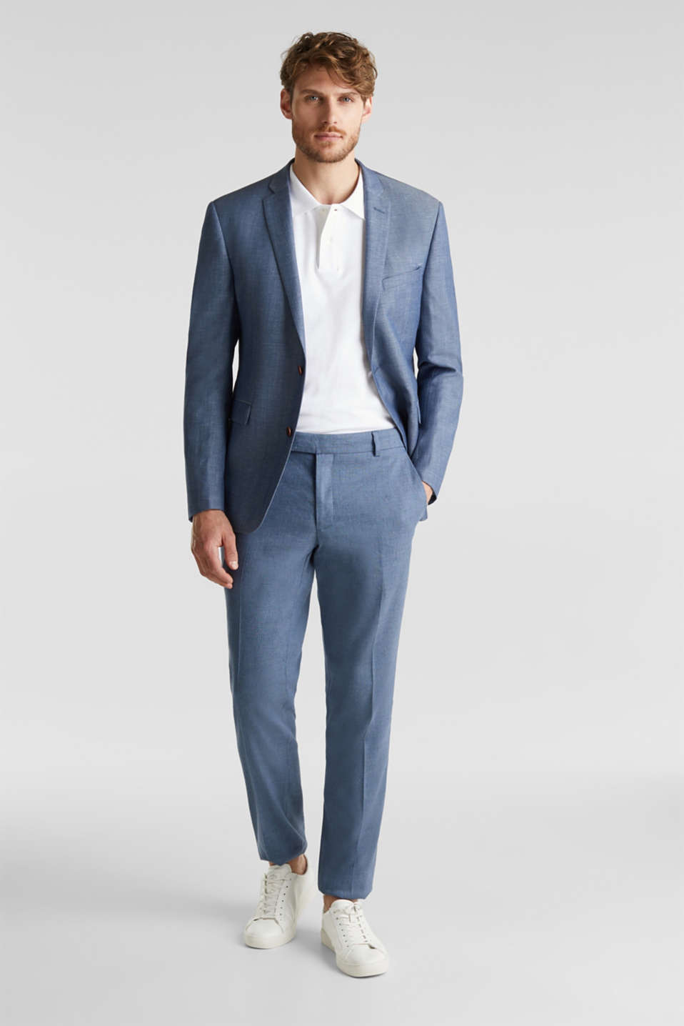 Blended linen: JOGG SUIT mix + match: sports jacket, BLUE 5, detail image number 1