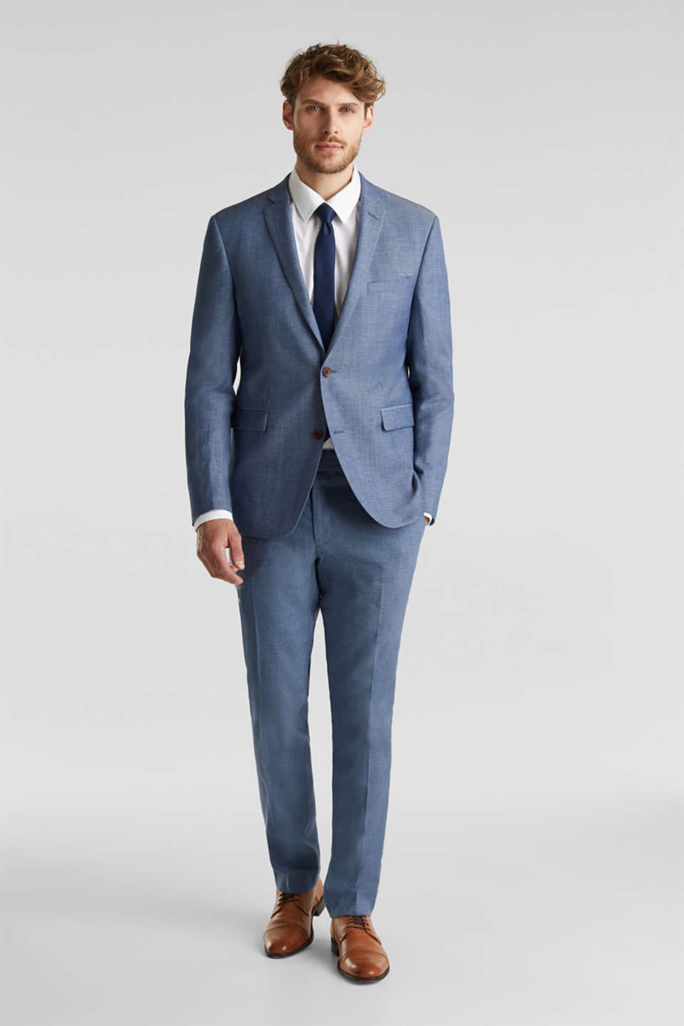 Blended linen: JOGG SUIT mix + match: sports jacket, BLUE 5, detail image number 8