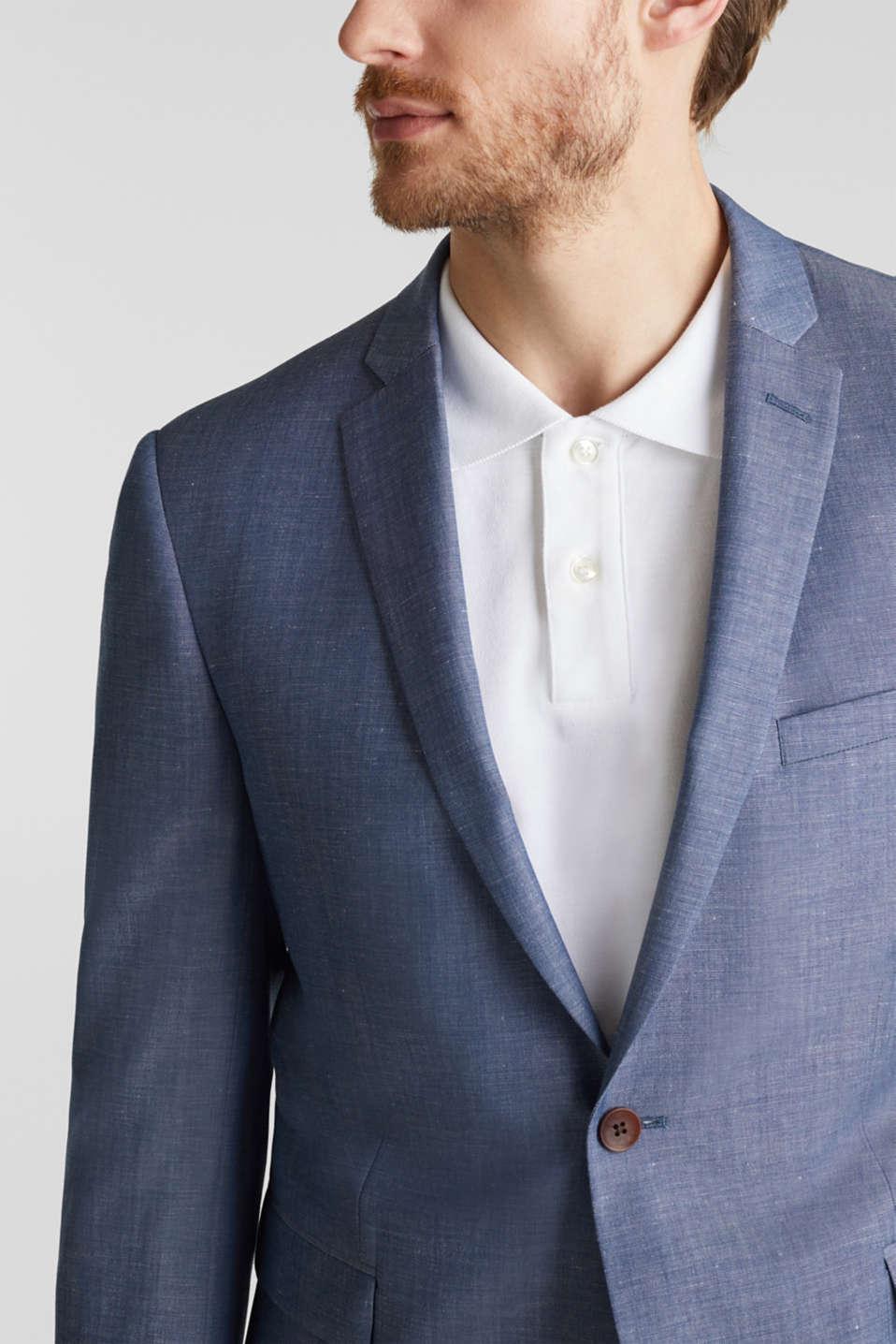 Blended linen: JOGG SUIT mix + match: sports jacket, BLUE 5, detail image number 2
