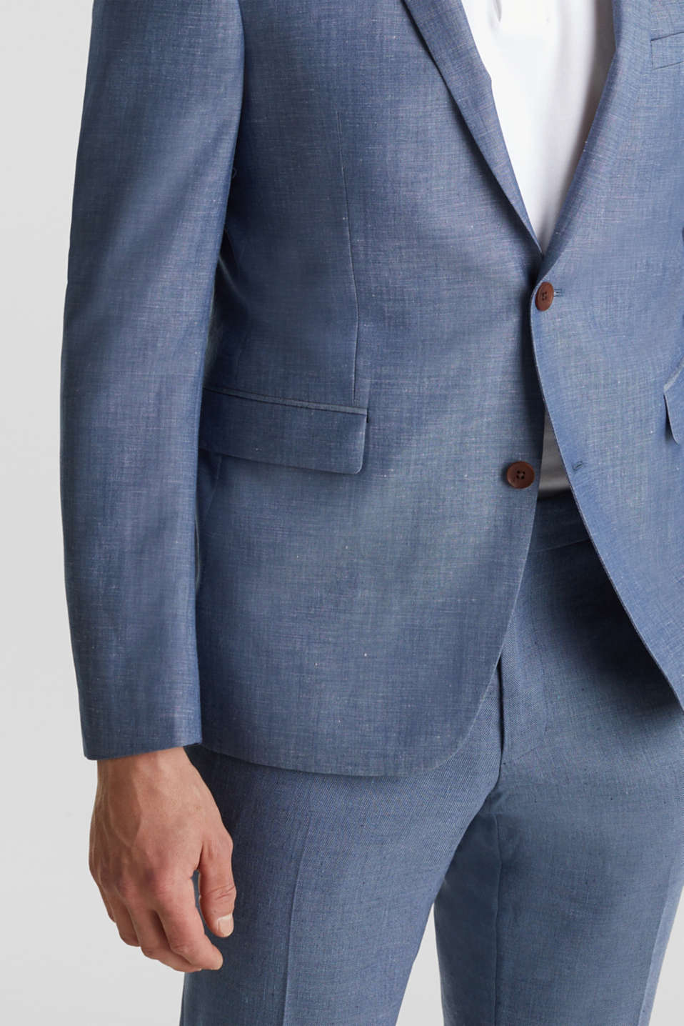 Blended linen: JOGG SUIT mix + match: sports jacket, BLUE 5, detail image number 5