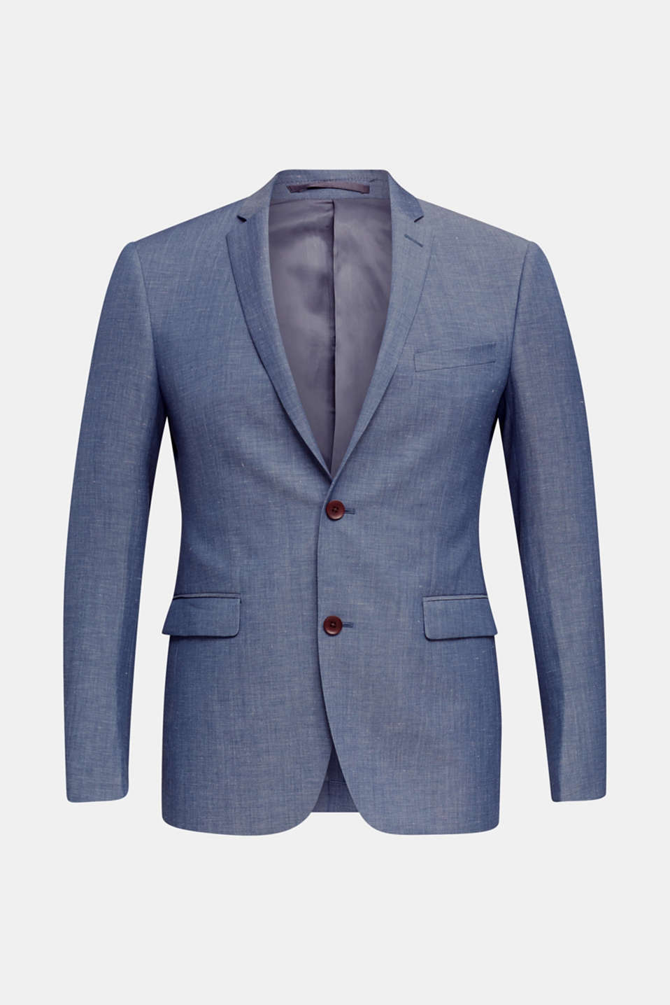 Blended linen: JOGG SUIT mix + match: sports jacket, BLUE 5, detail image number 6