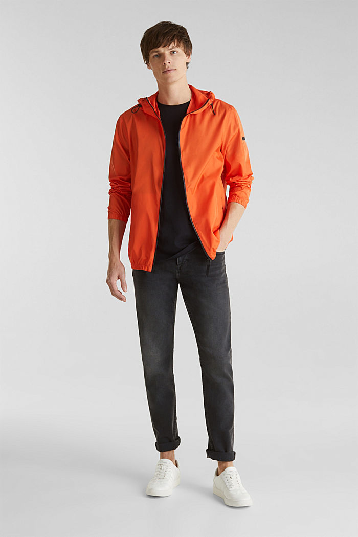 Windbreaker mit Kapuze, BRIGHT ORANGE, detail image number 1