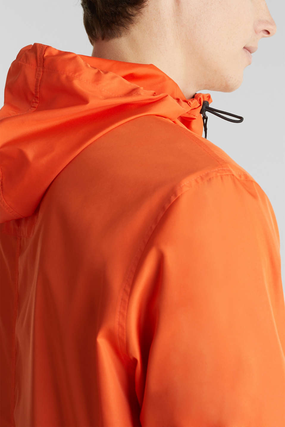 Windbreaker with hood, BRIGHT ORANGE, detail image number 2