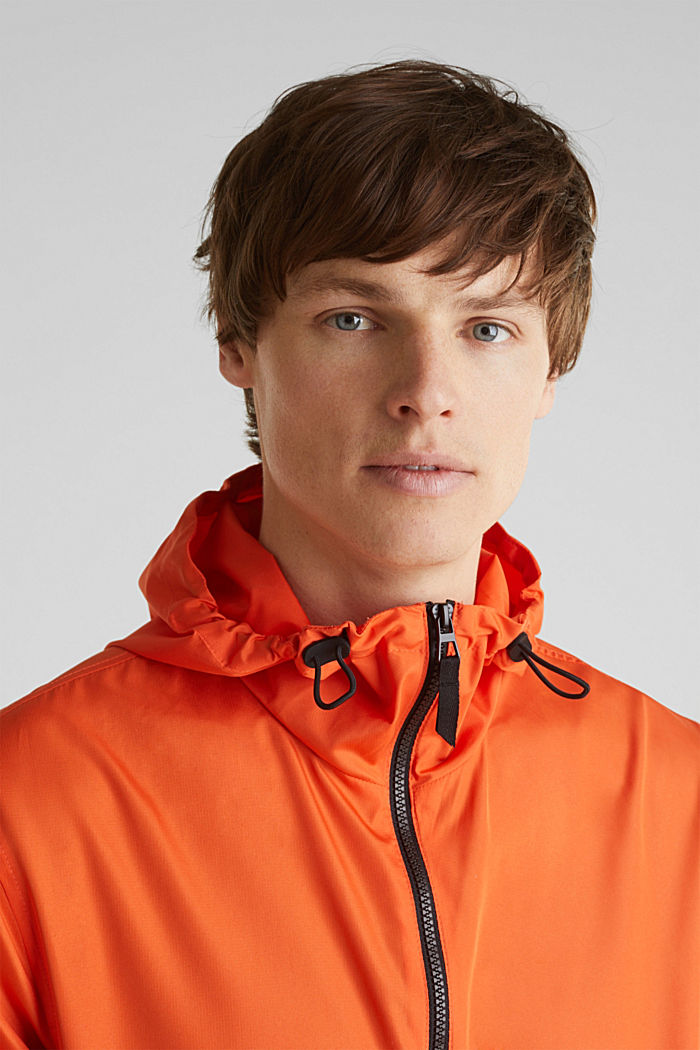 Windbreaker mit Kapuze, BRIGHT ORANGE, detail image number 4
