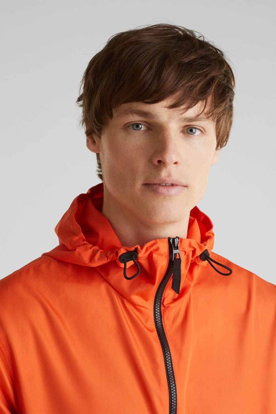 Windbreaker with hood, BRIGHT ORANGE, detail image number 4