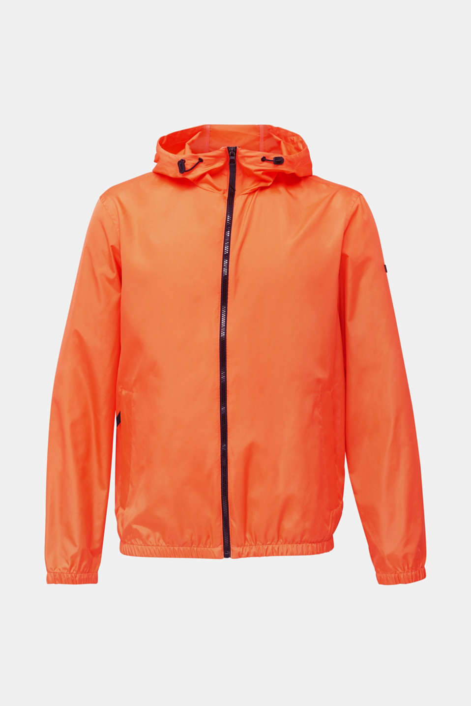 Windbreaker with hood, BRIGHT ORANGE, detail image number 6
