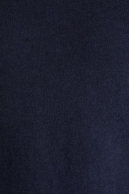 Made of blended linen: Sweatshirt with inside-out seams, NAVY, detail