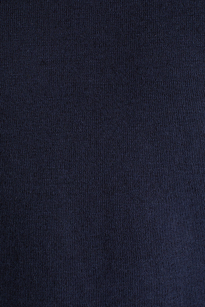 Van een linnenmix: sweatshirt met inside-outnaden, NAVY, detail image number 4