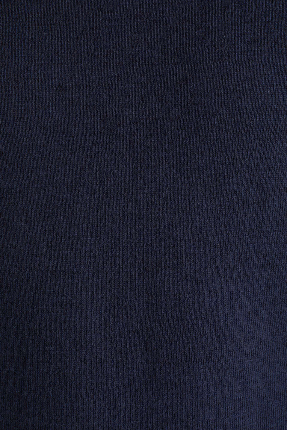 Made of blended linen: Sweatshirt with inside-out seams, NAVY, detail image number 4