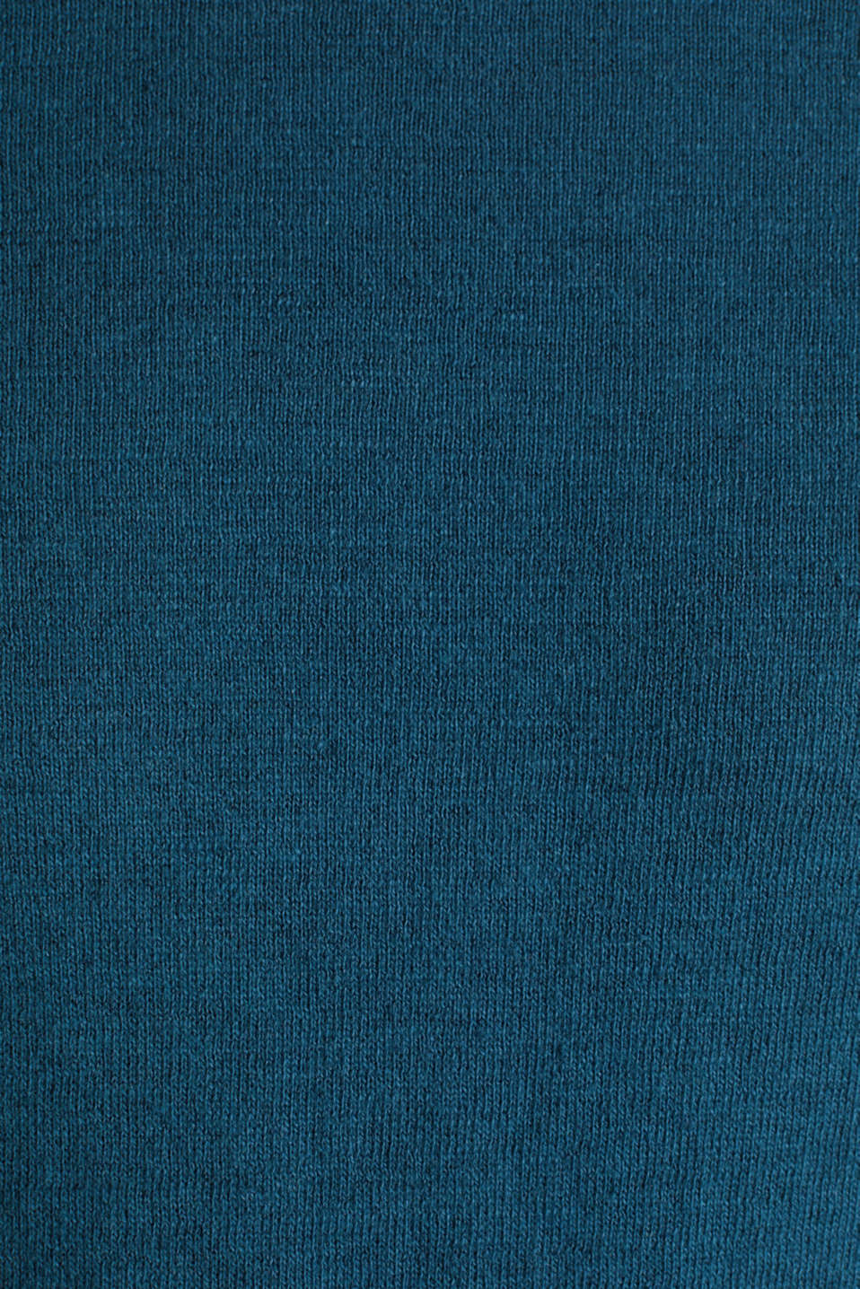 Made of blended linen: Sweatshirt with inside-out seams, PETROL BLUE, detail image number 4