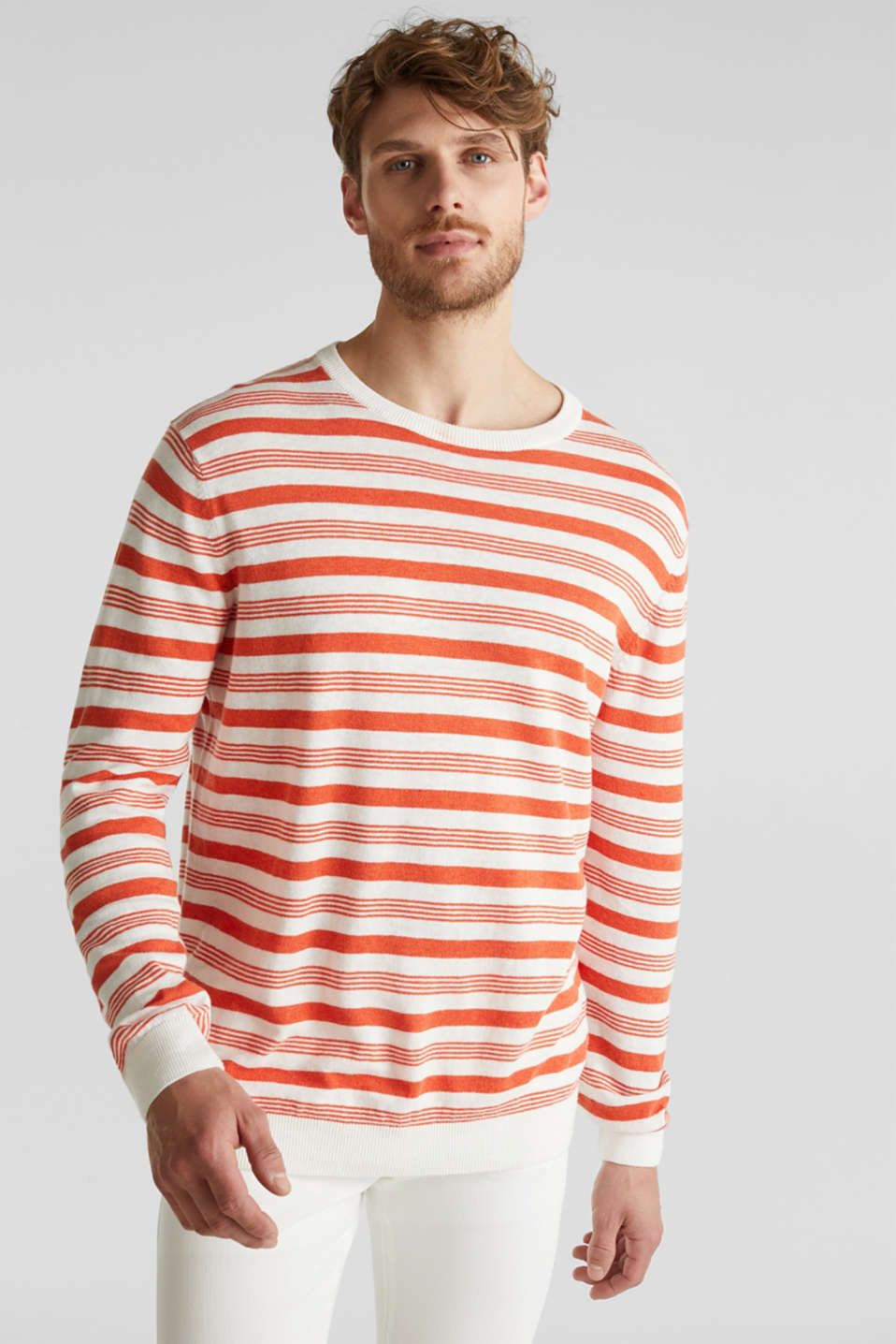 Esprit - Striped jumper in blended linen
