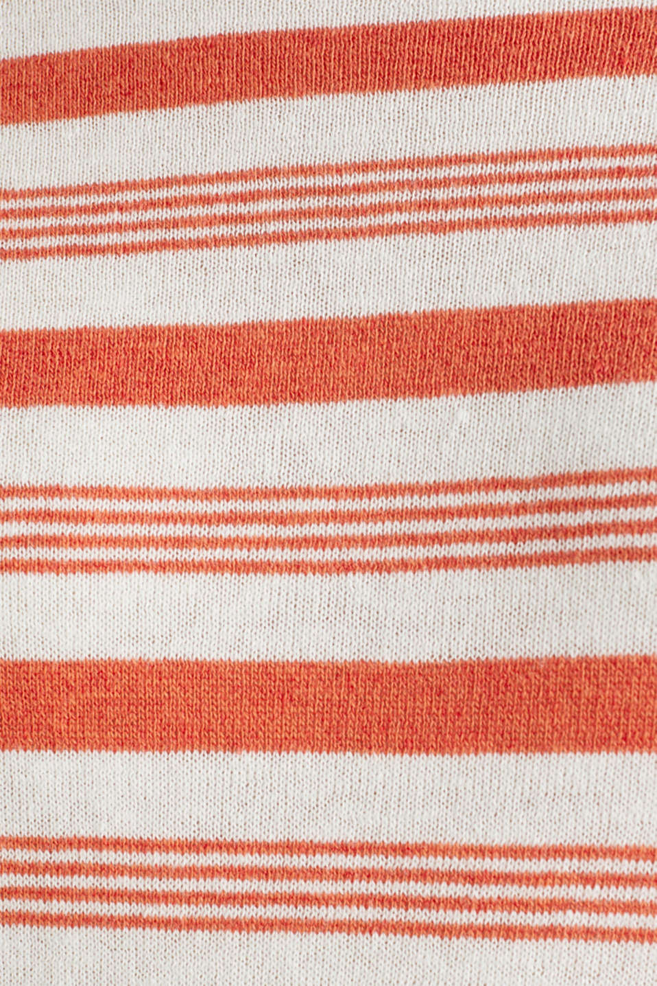 Striped jumper in blended linen, OFF WHITE 3, detail image number 4
