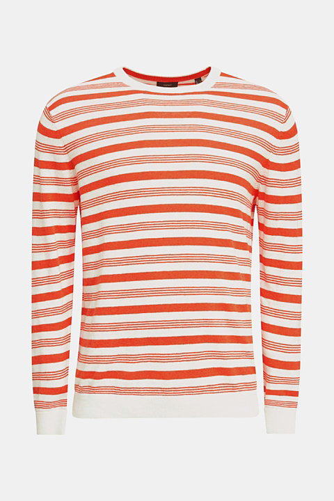 Striped jumper in blended linen